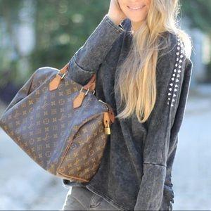 Auth Louis Vuitton Speedy 30 Satchel Bag Vintage